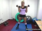 Briana Blair in Live Gym Cam