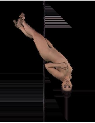Whitney Wright pole dancing naked Hologram